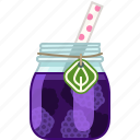 blackberry, drink, fruit, health, smoothie, vitamins, yumminky icon