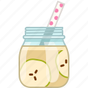 apple, drink, fruit, health, smoothie, vitamins, yumminky icon
