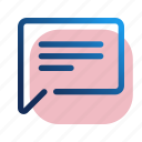 chat, message, note, notice, text icon