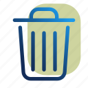 can, delete, trash, trashcan icon