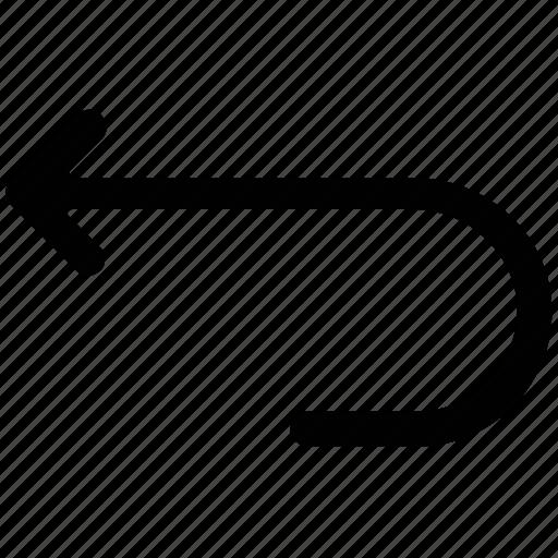 arrow, left, return, undo icon