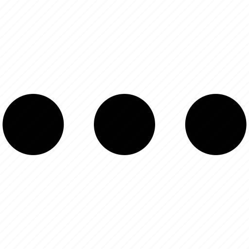 aligned, dots, horizontal, three dots icon