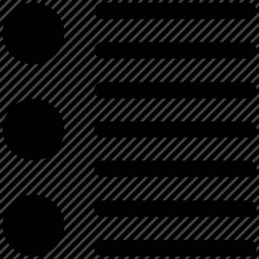 bullet list, file, list, text icon