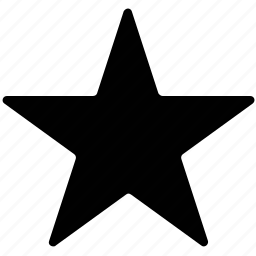 five pointed shape, five-point star, shape, star icon