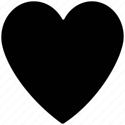heart, love, plain heart, shape icon
