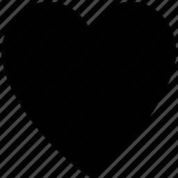 heart, love, plain heart, shape icon