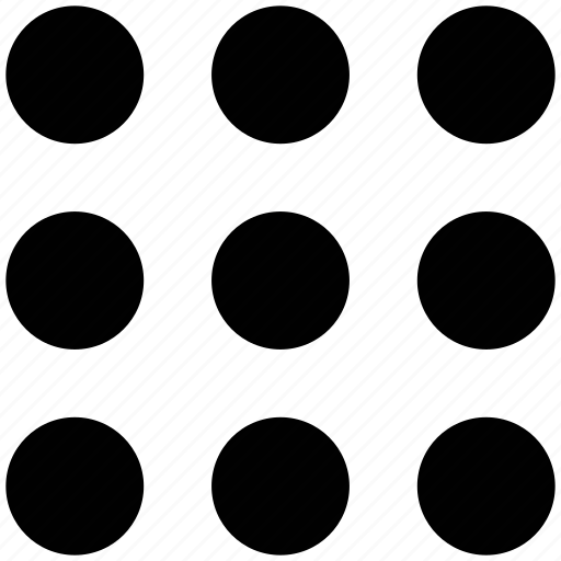 dots, grid, matrix, polka icon
