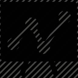 chart, easel, educational, graph icon