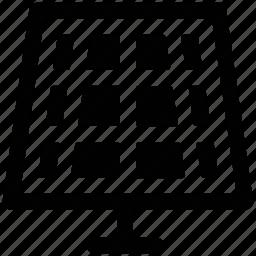 cell, panel, solar, solar board icon