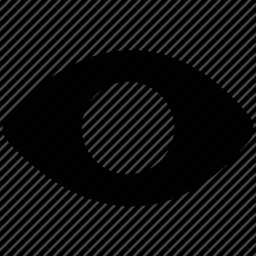 eye, shape, visibility, visible icon