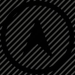 arrow, circle, cursor, up icon