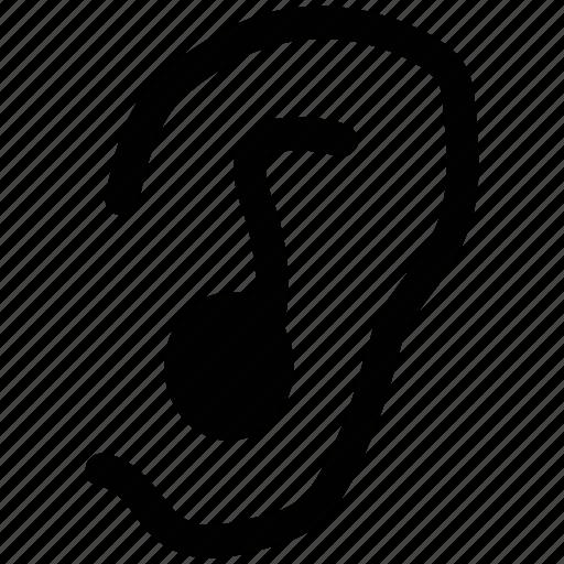ear, hear, human, listening icon