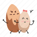 almonds, baadaam, nut, snack icon
