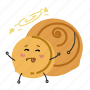 bread, nut, shredded, snack icon