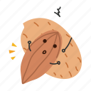 almond, snack, nut, apricot icon