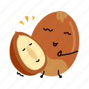 hazel, hazelnut, nut, snack icon