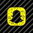 android app, ghost, snapchat logo, social media icon