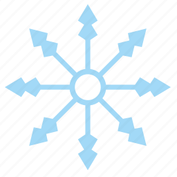 frost, ice, snow, snowflake icon