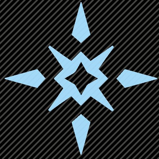 ice, ornament, snow, snowflake icon