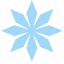 ice, snow, snowflake, star icon