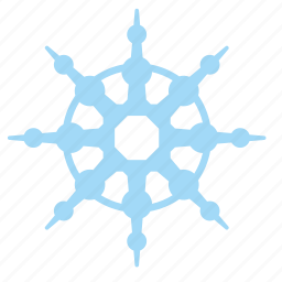 frost, ice, ornament, snowflake icon