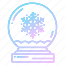 christmas, flakes, globe, globes, snow, snowflakes, winter icon