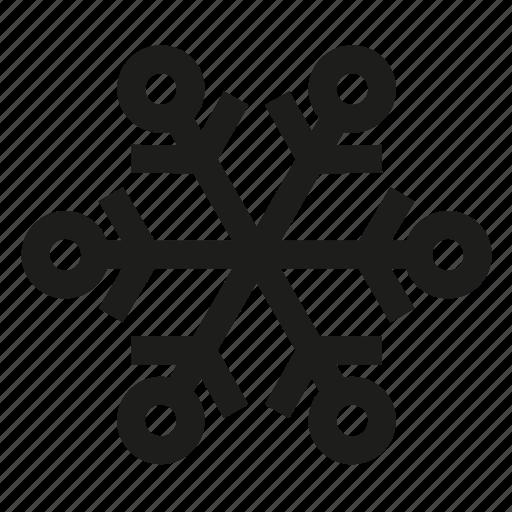 Snowflake, snow, flake icon - Download on Iconfinder