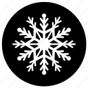 abstract, christmas, shape, snow, snowflake, weather, winter icon