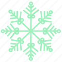 snowflake, cold, winter, snow, weather, christmas, ice