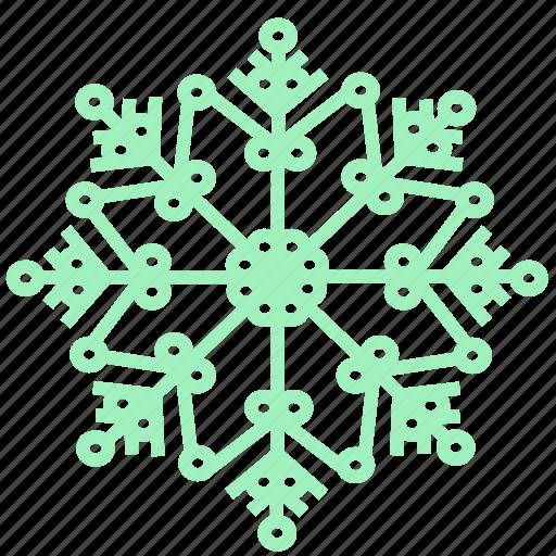 Snowflake, cold, winter, snow, weather, xmas, christmas icon