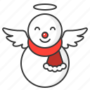christmas, snow, snowman, wing, winter