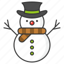 christmas, snow, snowman, winter icon