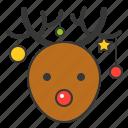 christmas, deer, reindeer, snow, winter