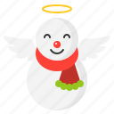christmas, snow, snowman, wing, winter icon