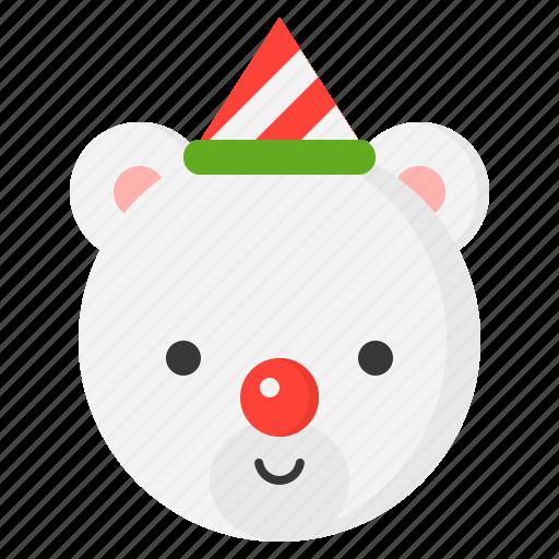 bear, christmas, snow, winter icon