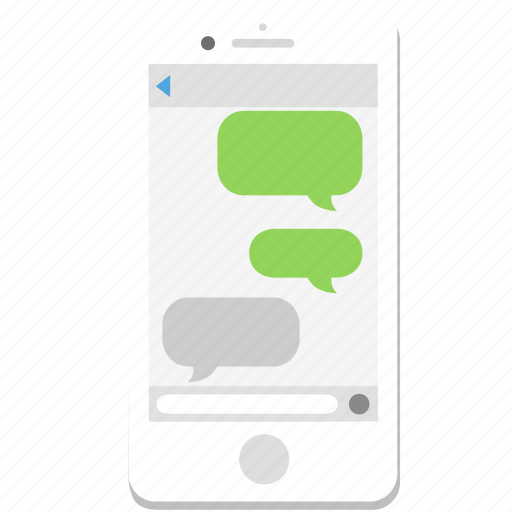 bubble, chat, iphone, message, phone, smartphone, talk icon