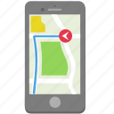 gps, iphone, map, navigate, navigation, phone, smartphone icon