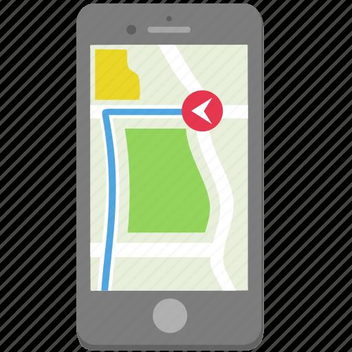 gps, iphone, map, navigate, navigation, phone, smartphone icon