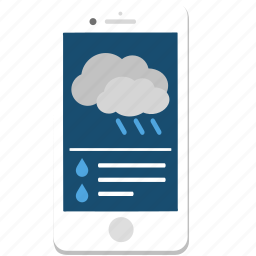 iphone, phone, rain, smartphone, weather icon