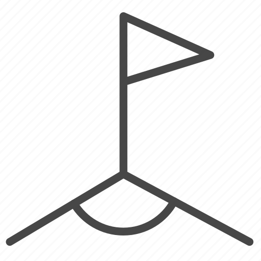corner, flag, football, offside, soccer, sport icon