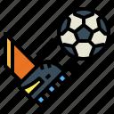 ball, kick, off, play, sports icon