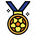 award, football, medal, winner