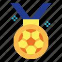 award, football, medal, winner