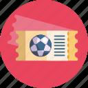 soccer, ticket, football, sports