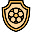 football, game, match, shield, sport icon