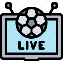 football, game, live, match, sport icon