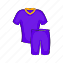 cartoon, clothing, football, shorts, sign, t-shirt, uniforms icon