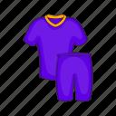 cartoon, clothing, football, shorts, sign, t-shirt, uniforms icon