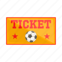 buy, cartoon, check, football, sign, tickets, waiting icon