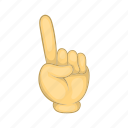 bent, cartoon, gesture, motion, sign, thumb, up icon